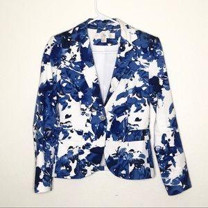 Boston Proper Floral Bloom Blazer Jacket